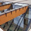 Sirmione – Grotte di catullo – particolare della copertura vetrata - Facciate e coperture vetrate