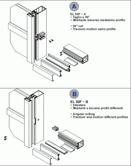 EL50 F-B  Facciate e vetrate