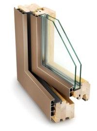 porte e finestre doppio strato legno alluminio